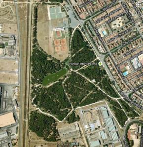 Imagen 2. Fotografía aérea del parque, google maps