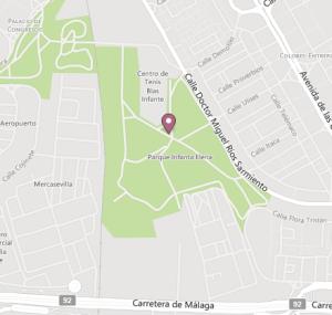 Imagen 1.Mapa del parque,Google maps