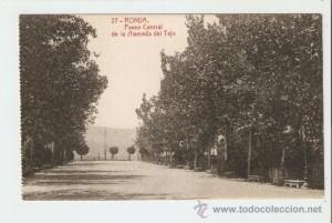 Imagen 3: Foto antigua de la Alameda del Tajo. Fuente: www.todocoleccion.net