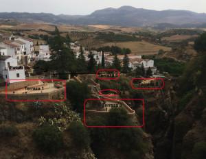 Disposicion terrazas