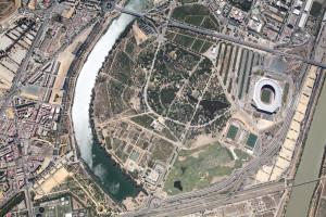 Ilustración 1. Fotografía aérea del Parque del Alamillo.