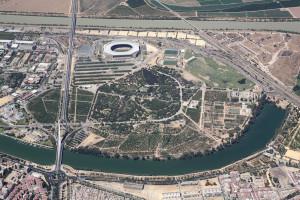 Ilustración 2. Fotografía aérea del Parque del Alamillo.