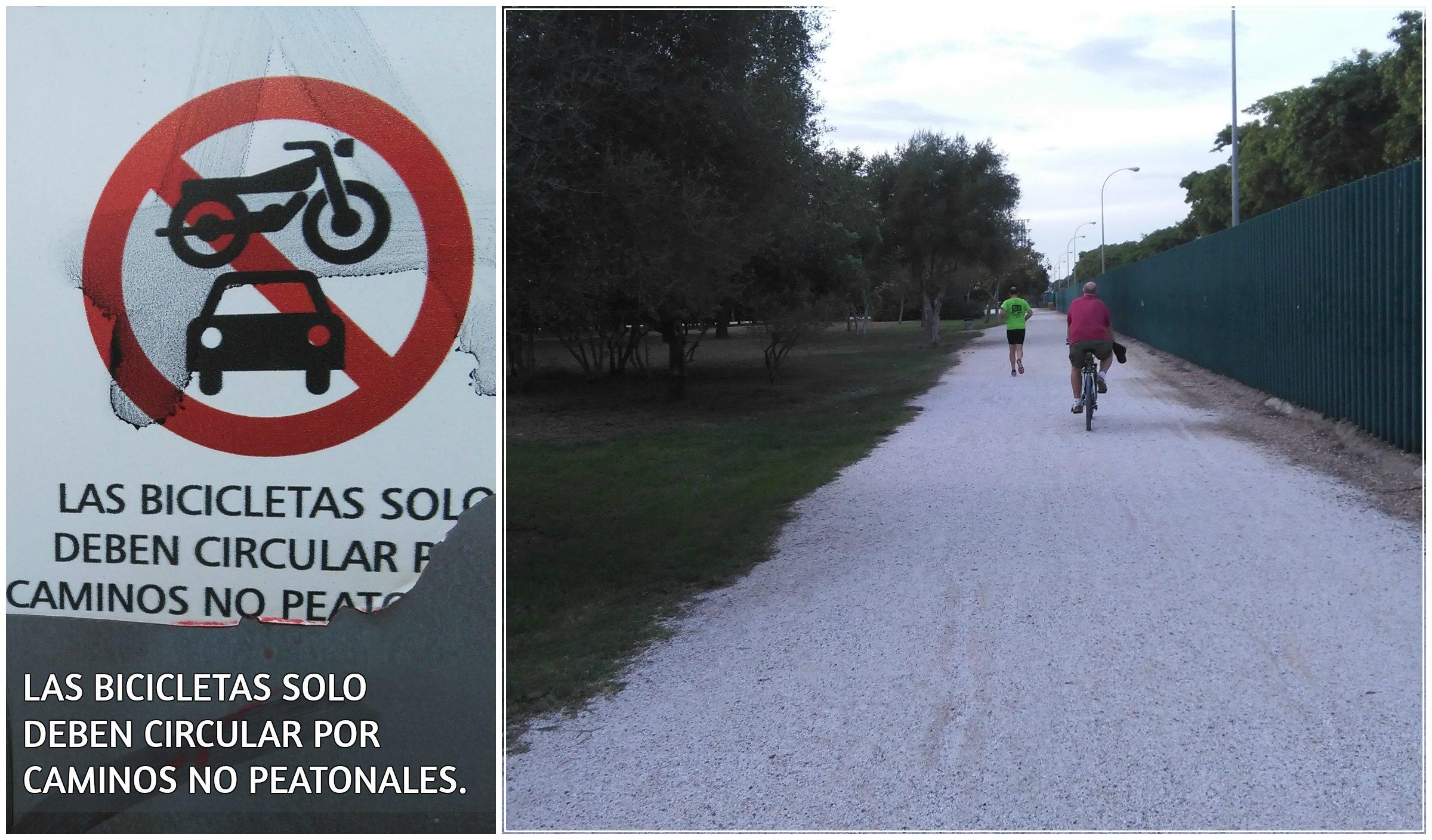 Fig. 21. Norma sobre el uso de bicicletas y el no cumplimiento de esta. Fuente: Propia.