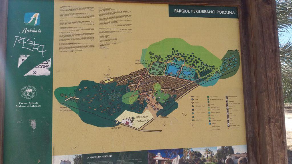Imagen. Cartel plano del parque.Fuente : propia.