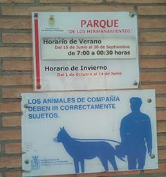 Imagen 21. Horarios del parque. Fuente: Propia.