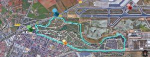Imagen 1.- Fotografía aérea y lindes del Parque del Tamarguillo (Sevilla). Fuente: Google Maps