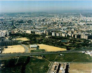 fotografía aerea de parque fuente: internet