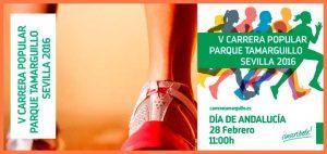 Imagen 23.- Cartel V Carrera Parque del Tamarguillo. Fuente: dorsalchip.