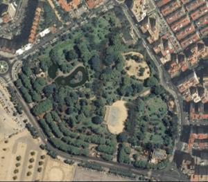 Imagen 2. Foto aérea del Parque de Los Príncipes. Fuente: Base Cartográfica de Andalucía.