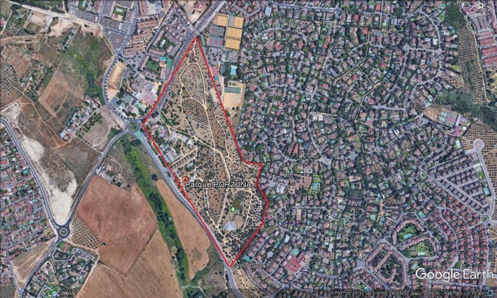 Imagen 2. Plano de localizacion Parque Periurbano Porzuna