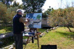 Pintura al aire libre. Fuente: Sevilla Press