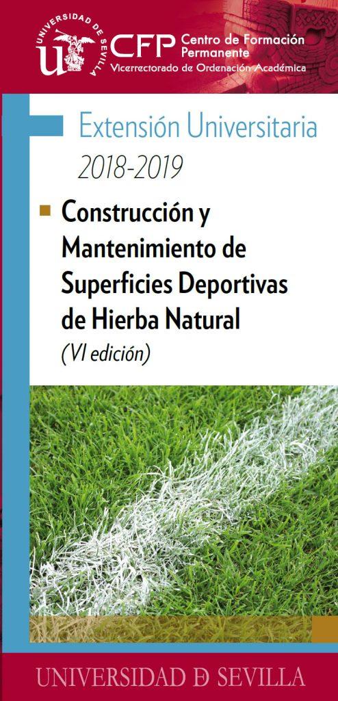 CONSTRUCCIÓN Y MANTENIMIENTO DE SUPERFICIES DEPORTIVAS DE HIERBA NATURAL